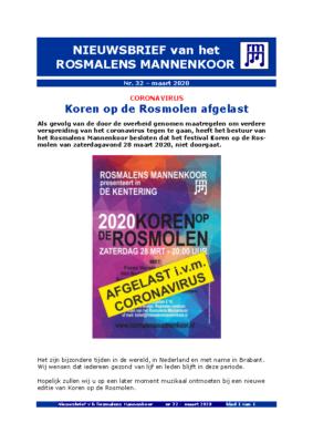 RM-NIEUWSBRIEF 32 d.d. mrt 2020